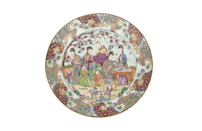 famille rose porcelain plate
