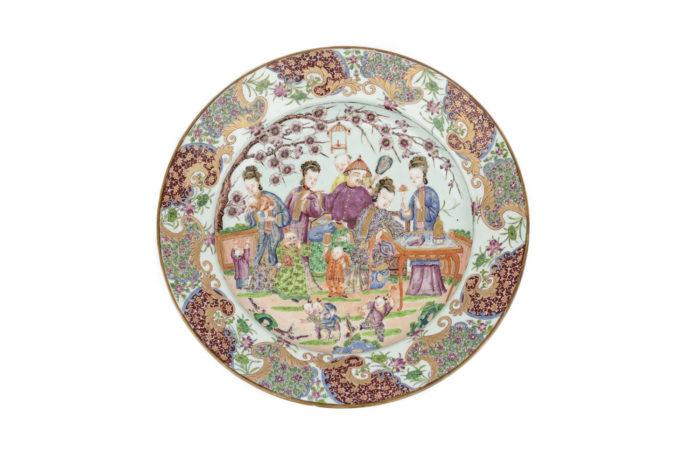 plat porcelaine famille rose prcpl