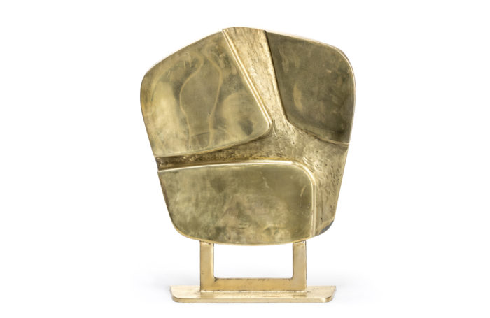 gilt bronze geometrical abstract sculpture