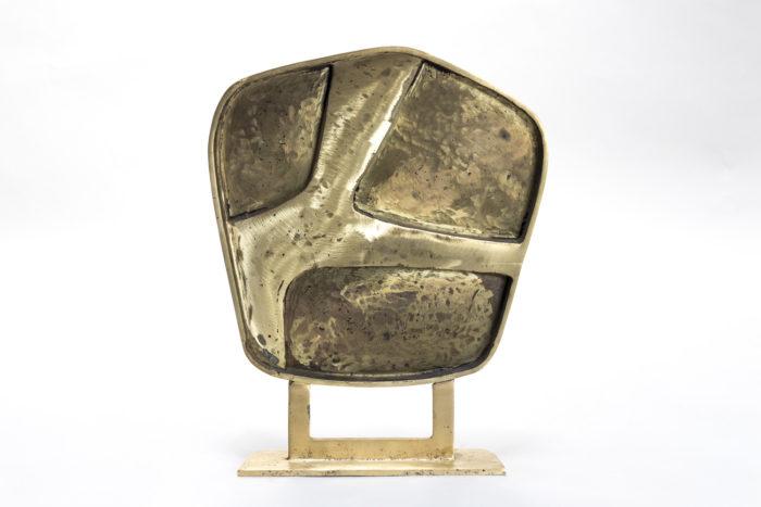 sculpture bronze doré vue dos relief creux