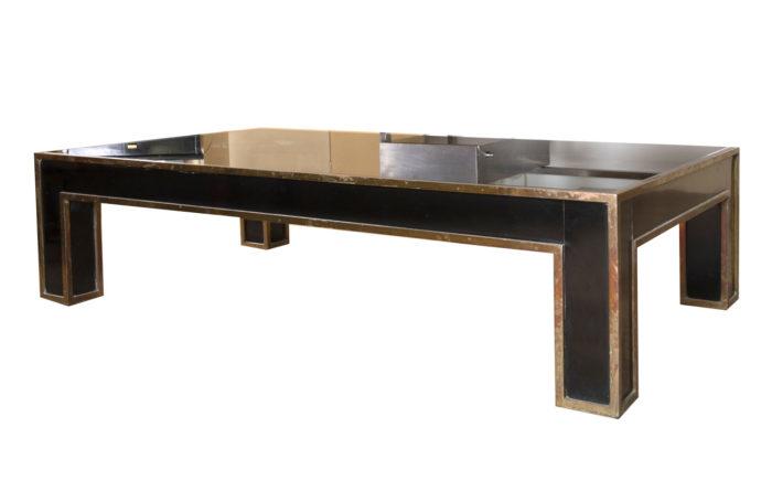 black and gilt coffee table 3/4