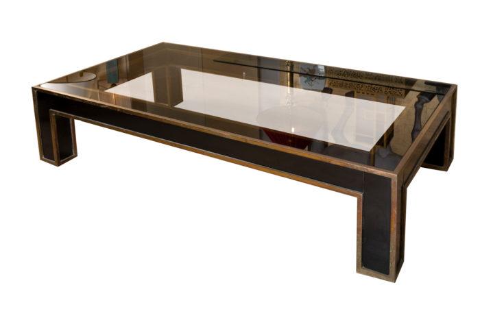 table basse noire et or 3:4 moins reflet