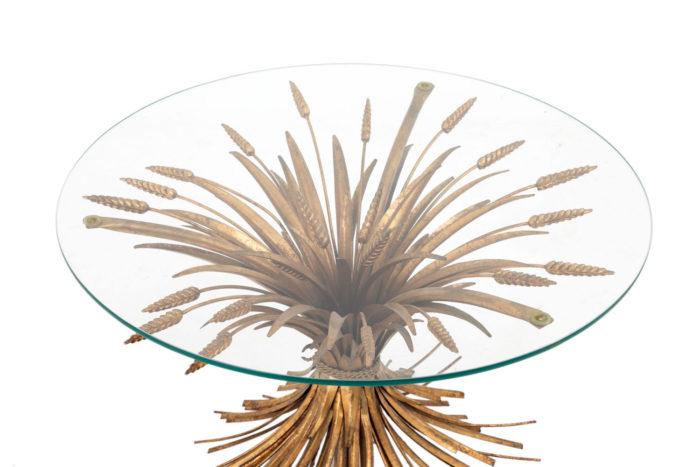 table épis de blé dorée dessus