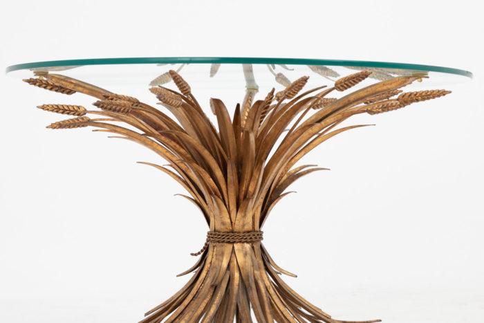 table épis de blé dorée face détail