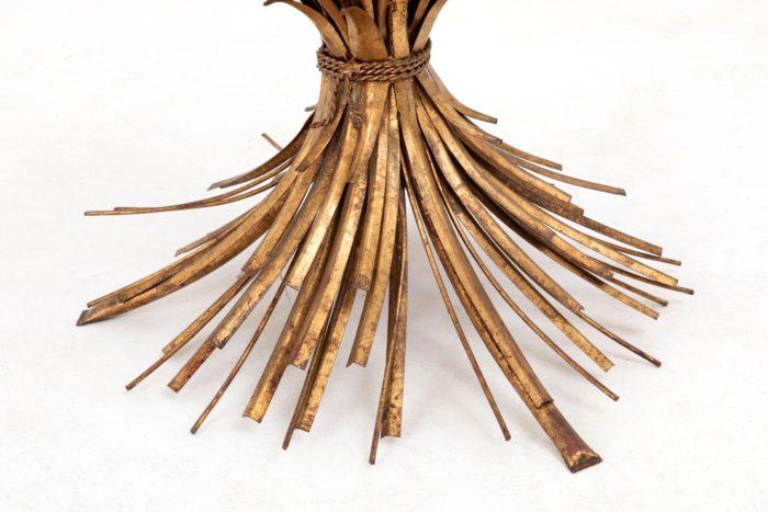 table épis de blé dorée pied