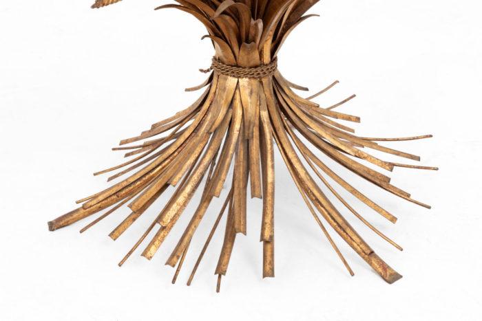 table épis de blé dorée pied détail