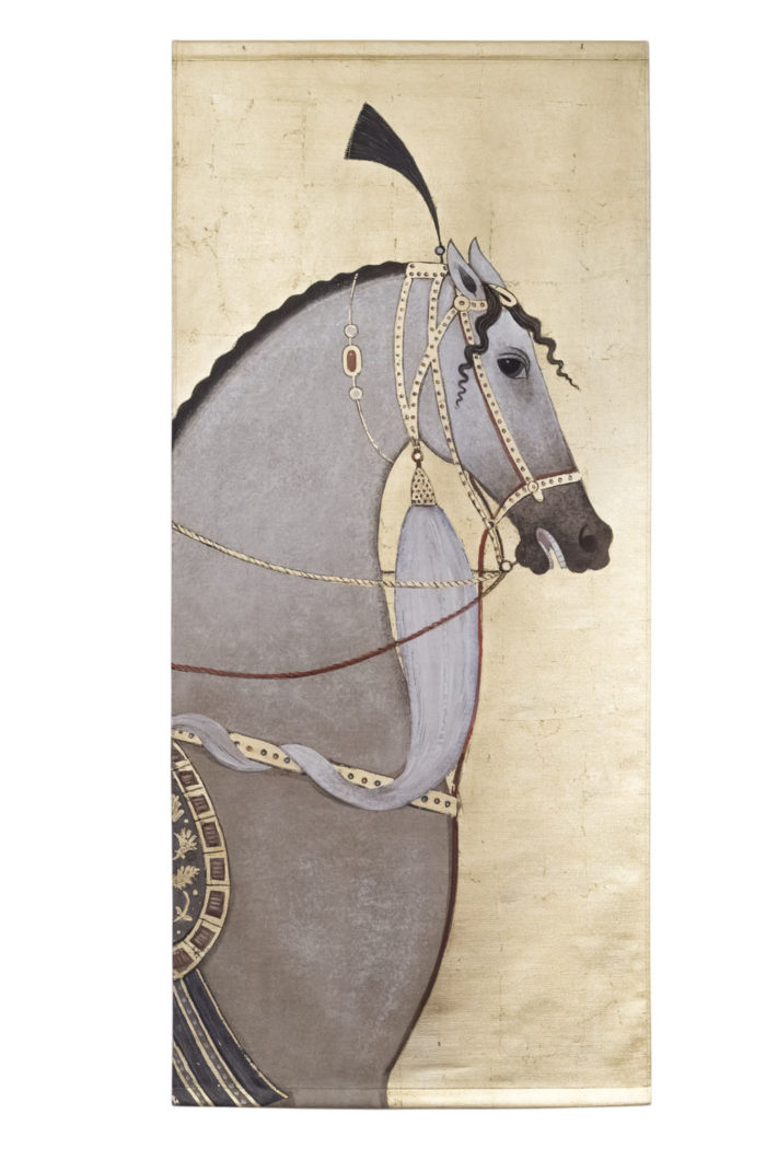toile cheval pur sang arabe gris 0 1