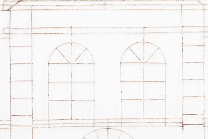 topiaire baies étage facade metaison metal