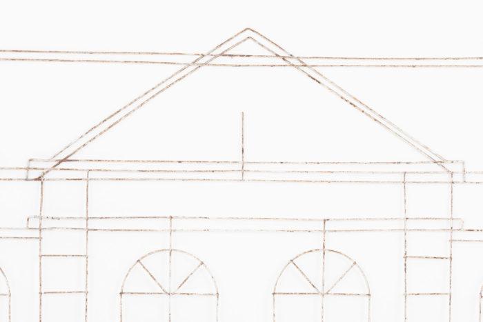 topiaire façade maison fronton
