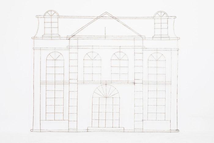 topiaire facade maison classique zoom