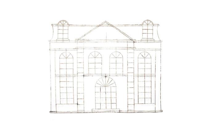 topiaire maison facade classique metal pcple