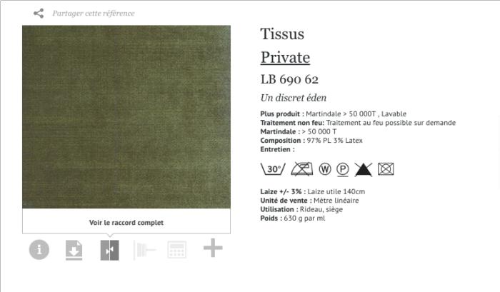 elitis tissus velours vert jardin eden