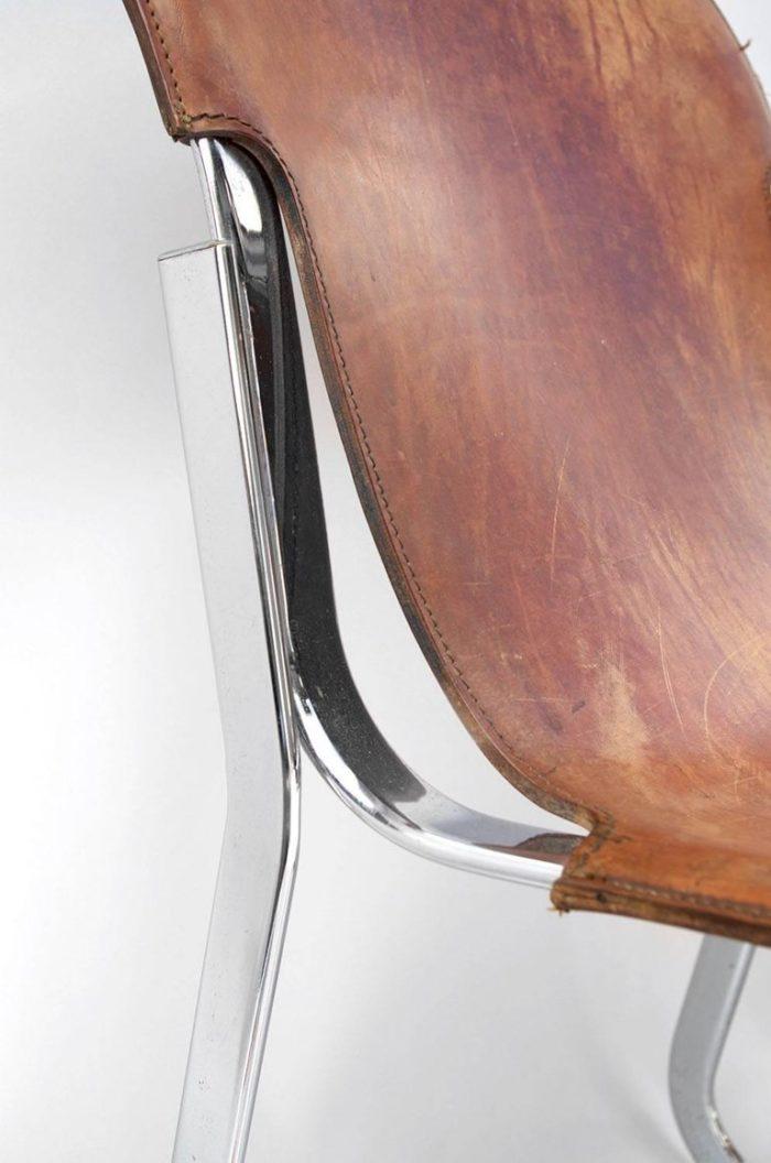 willy rizzo chaises cuir métal côté