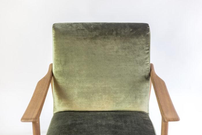 arne hovmand fauteuil dossier velours vert