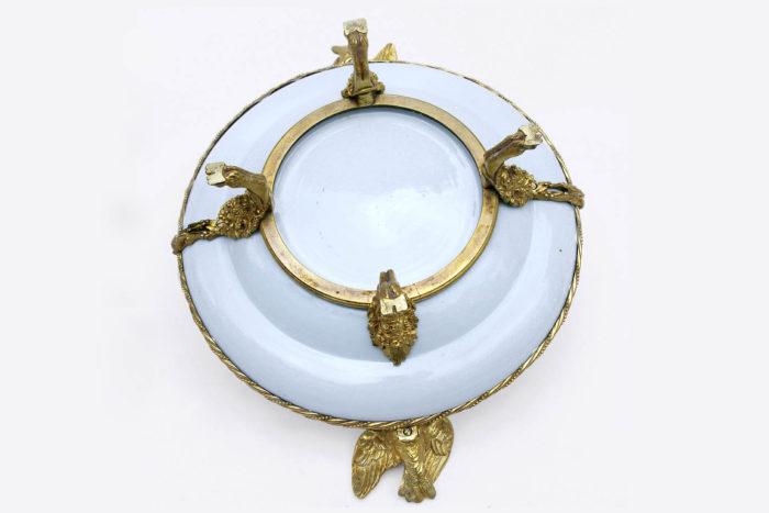 assiette porcelaine canton monture bronze dos