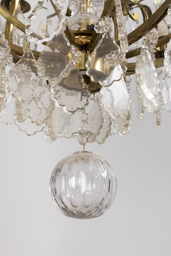 baccarat chandelier cut crystal ball