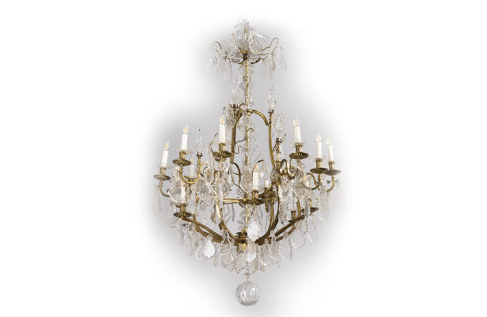 baccarat chandelier brass crystal prcpl