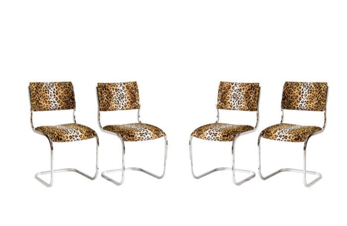 cantilever chairs steel cheetah fabric prcpl