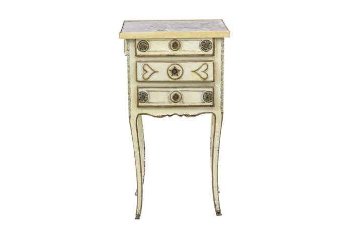 yellow louis xv bedside table prcpl