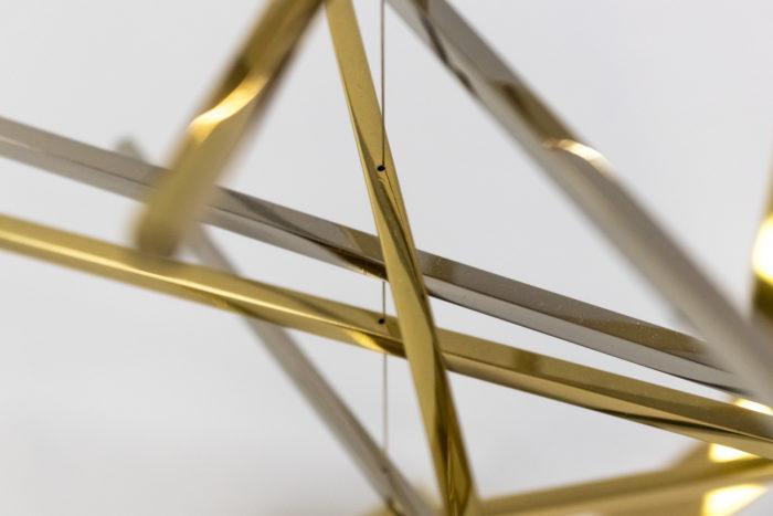 christel sadde stabile carré laiton doré argenté barres