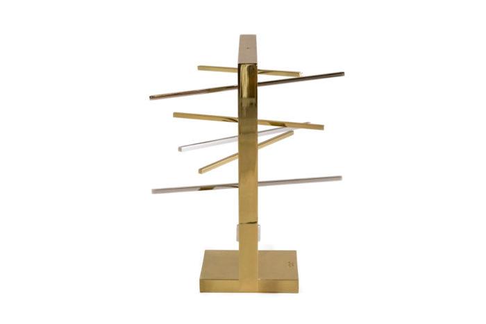 christel sadde stabile carré laiton doré argenté côté
