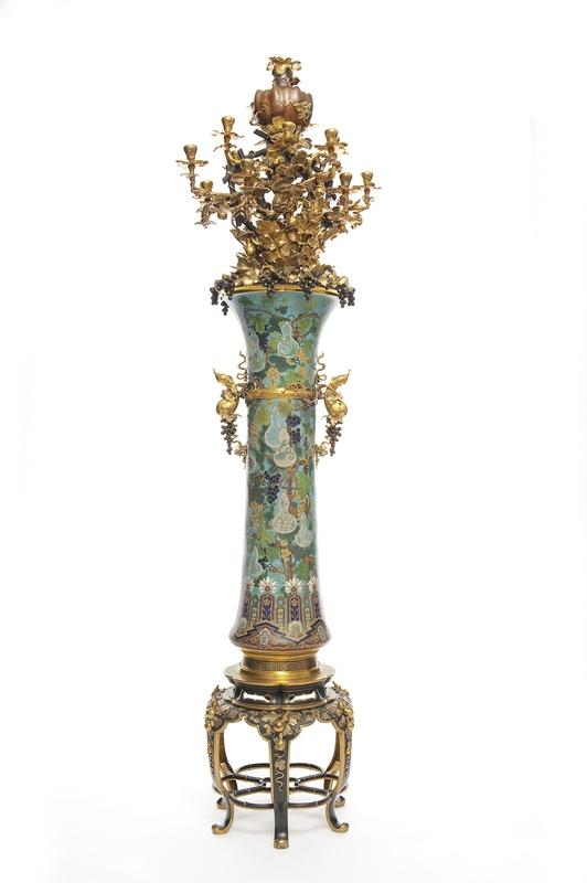 christofle torchère japoniste vers 1854