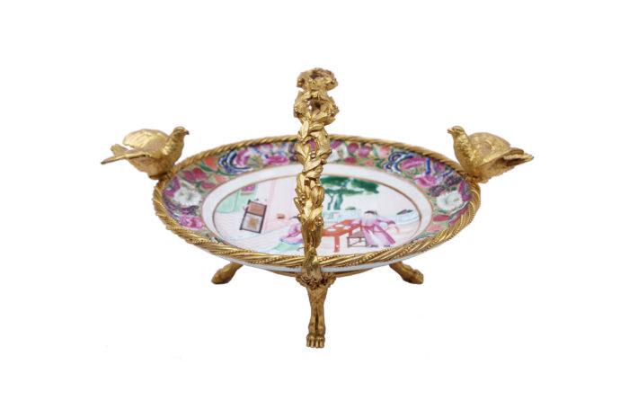 canton porcelain plate gilt bronze prcpl