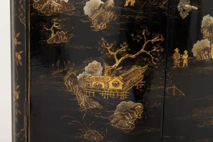 louis xv style corner cabinet decor landscapes