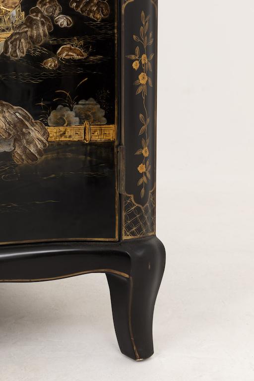 louis xv style corner cabinet cabriole leg