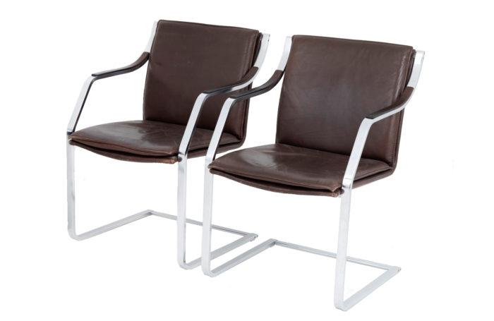 fauteuils paire cantilever knoll