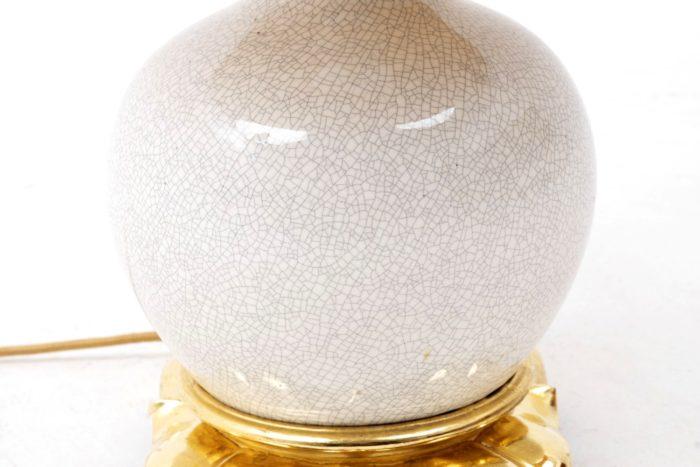 lampe craquelée balustre blanc