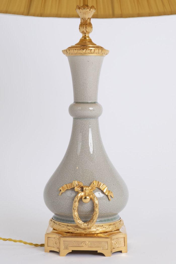 lampe porcelaine craquelée côté