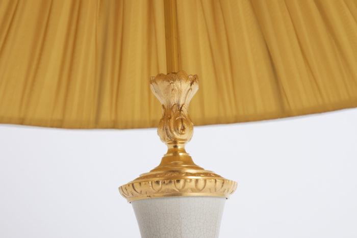 lampe porcelaine craquelée monture haute