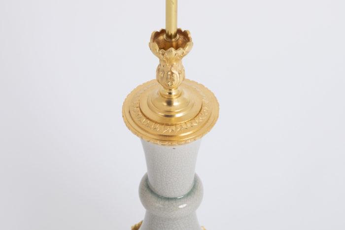 lampe porcelaine craquelée rais de coeur