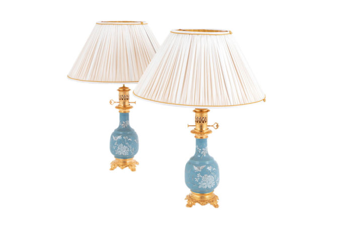 blue porcelain lamps white enamels prcpl