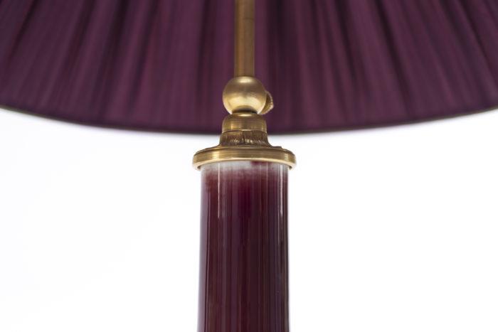 lampes rouge sang de boeuf bronze doré