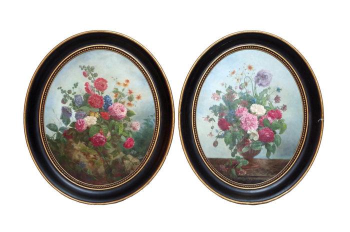 laurenceau paire toiles fleurs