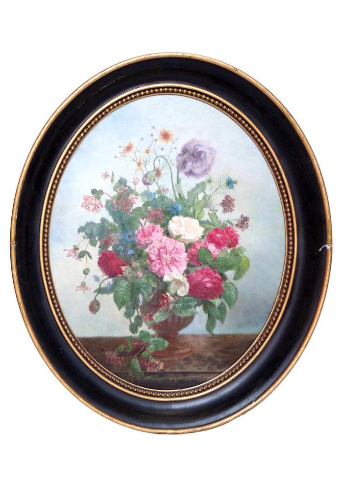 laurenceau toiles fleurs vase