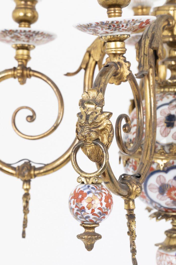 lustre hollandais bras de lumière lion anneau