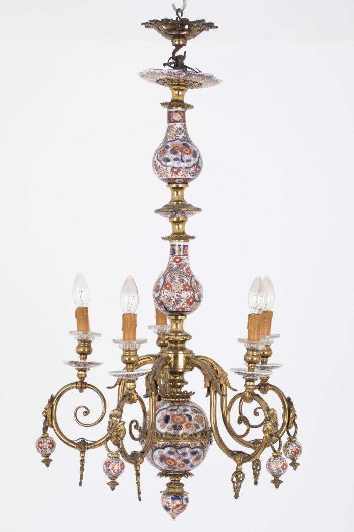 lustre hollandais imari bronze doré entier