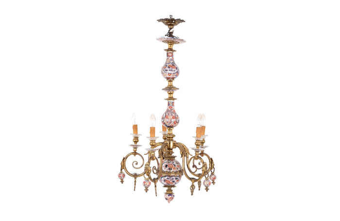 dutch style chandelier imari gilt bronze prcpl