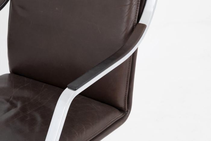 manchette accotoir cuir fauteuil knoll