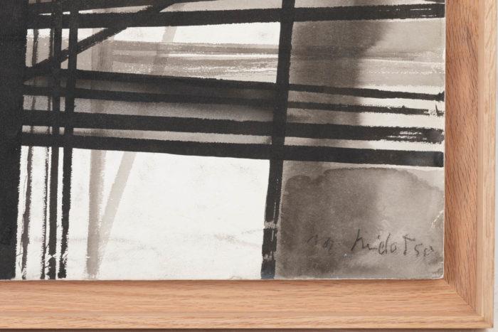 marcel melot gouache abstraite signature date