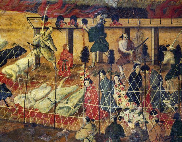 martyre des pères jésuites à Nagasaki 1622