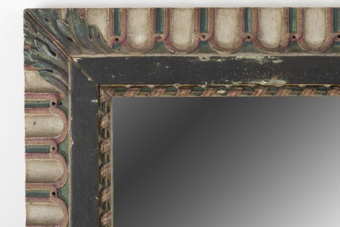 miroir louis xvi angle haut gauche canaux ruban