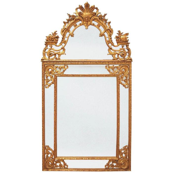 miroir parclose style régence entier