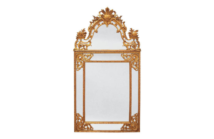glazing beads regence style gilt wood mirror prcpl
