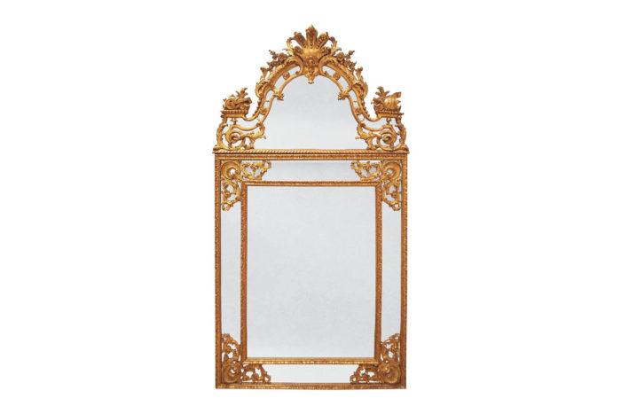 miroir style regence bois doré parcloses pcple