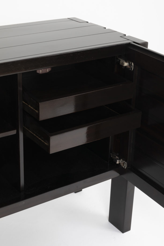 regain buffet black elm drawers
