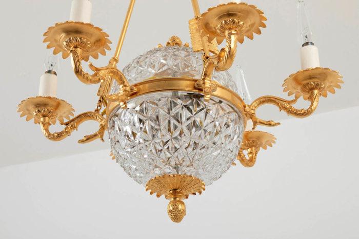 suspension empire cristal bronze doré dessous